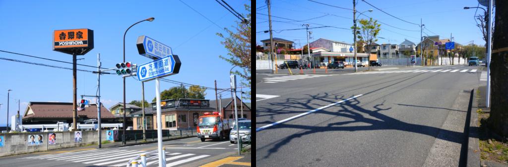 左側にセブンイレブンが見えてきますので交差点で右に曲がります。
